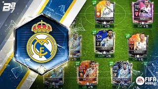 FULL REAL MADRID SPECIAL CARD SQUAD! | FIFA MOBILE