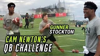 Cam Newton TURNS UP At Epic QB Skills Challenge! Top 8th Grade QB Gunner Stockton STEALS THE SHOW  😯