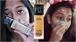 Maybelline Fit Me Matte Poreless Foundation Shade- 230 Natural Buff Review amp Demo Worth it or not
