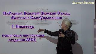 Народний Вільний Земський З'їзд МСУ - Р. Никитуха інструкція створення МСУ