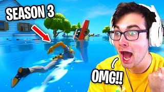 Reacting to Fortnite Season 3 GAMEPLAY and LEAKS... (New Map Fortnite Chapter 2 Season 3)