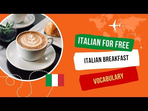 Colazione Italiana, Italian breakfast