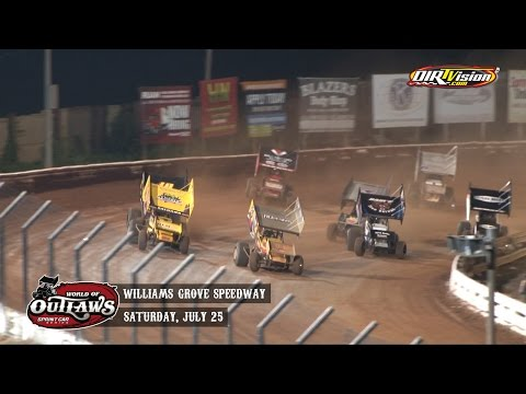 Highlights: World of Outlaws Sprint Cars Williams Grove Speedway July 25th, 2015