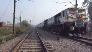 gkp anvt humsafar express inaugral capture with gonda wdp4d