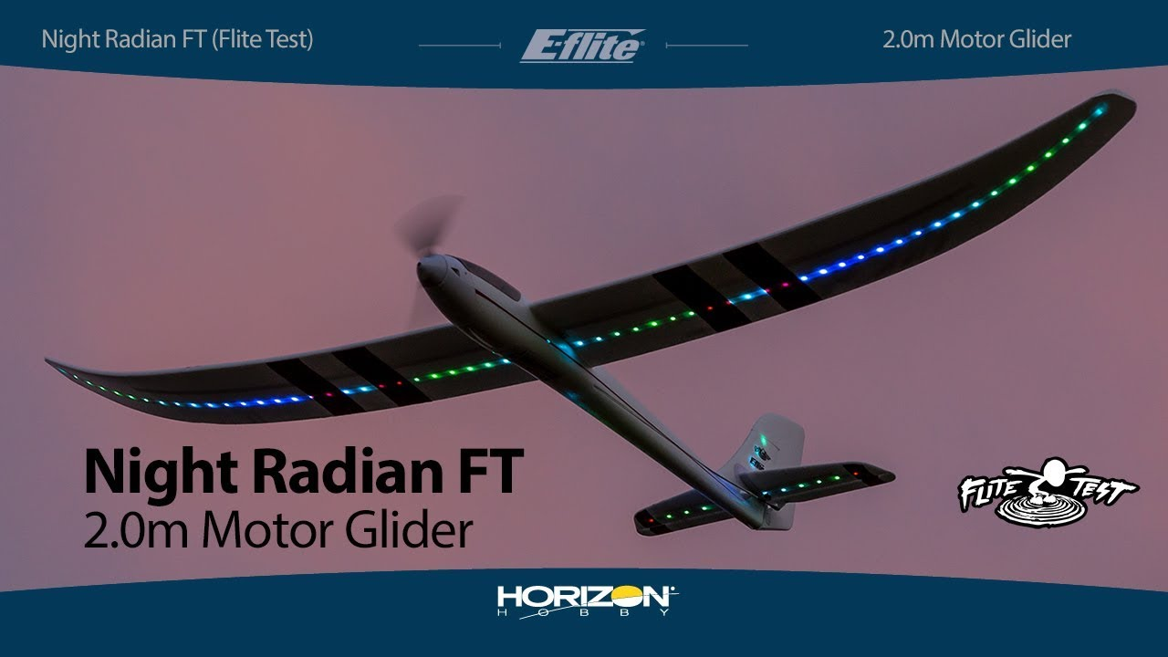 E-flite Night Radian FT 2.0m PNP & BNF Basic with AS3X and SAFE Select