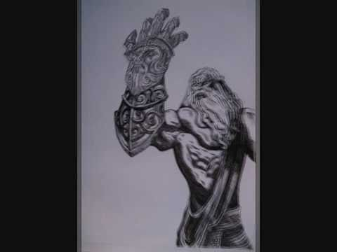 God Of War Zeus Drawing Youtube