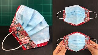Easy DIY Surgical Mask cover How to make Face mask cover Sewing Tutorial