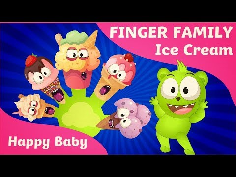 The Finger Family | Mega Gummy Bear | Ice Cream | Rhyme For Children| Kids Songs