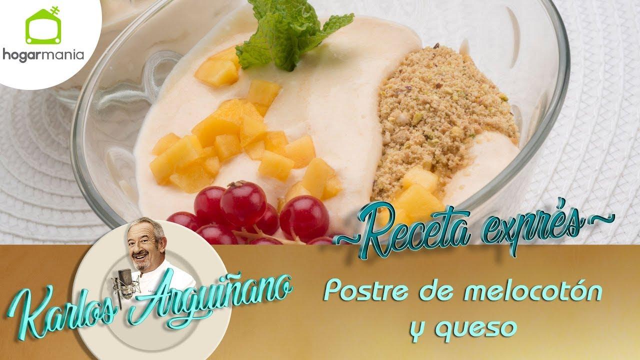 Recetas De Cocina De Eva Arguiñano | Receta De Postre De Melocoton Y Queso Por Eva Arguinano Youtube