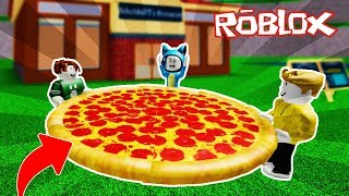 THE MOST GIANT PIZZA IN THE WORLD!! RESTAURANT TYCOON ROBLOX 💙💚💛 BE BE MILO VITA AND ADRI 😍 AMIWITOS