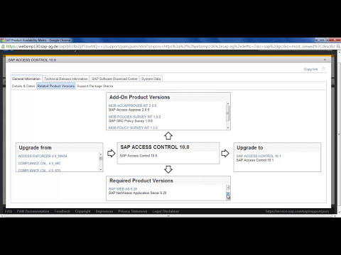 SAP GRC PAM Tutorials | Product Availability Matrix Video | PAM 10.1