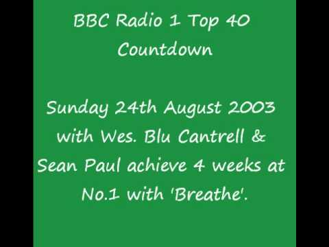 BBC Radio 1 Top 40 Countdown - Sunday 24th August 2003 - Blu Cantrell & Sean Paul