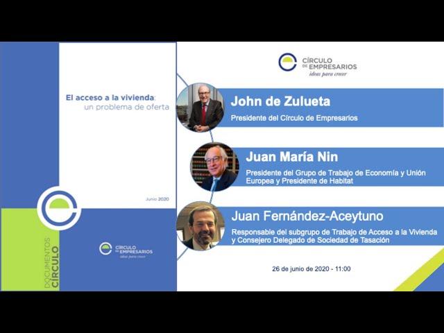 Presentación Documento 'El acceso a la vivienda: un problema de oferta'