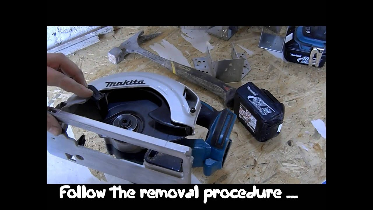 How to replace a circular saw blade youtube how to replace a circular saw blade greentooth Images