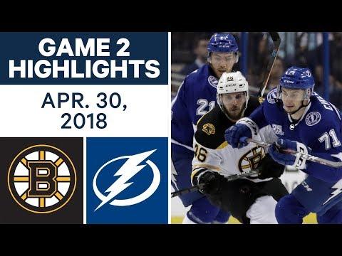 NHL Highlights | Bruins vs. Lightning, Game 2 - Apr. 30, 2018