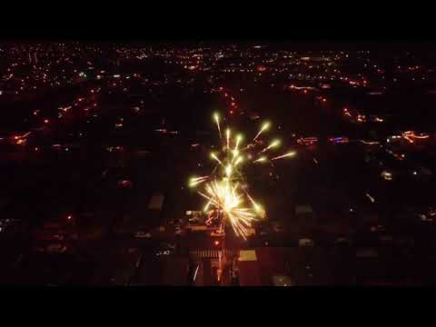 New Year Firework Show Waipahu Hawaii 2018