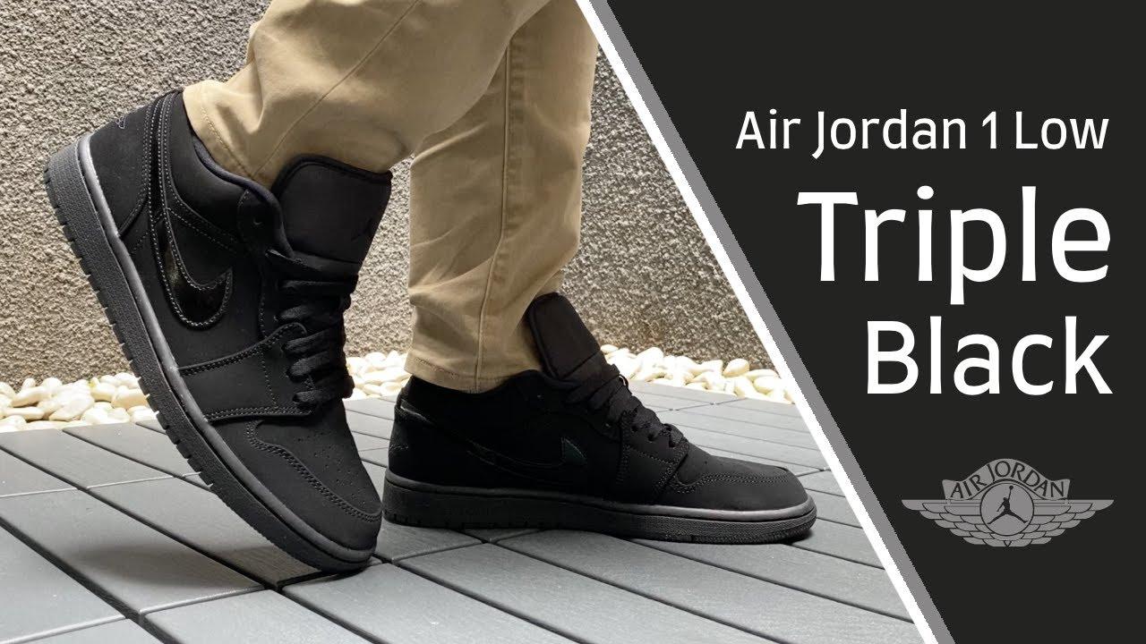 all black air jordan 1 low