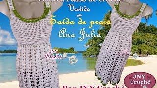 Saida de praia de croche Ana Julia por JNY Crochê