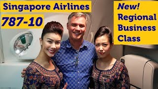 Singapore Airlines 787-10 Inaugural Flight - NEW regional Business Class