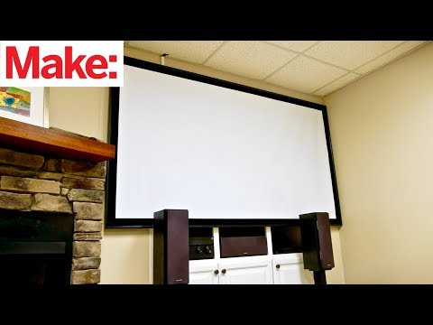 Crafted Workshop: How To Build A DIY Projector Screen