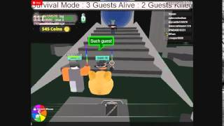 ROBLOX: Gues defense!: Talking to doge...