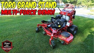 Toro Grand Stand MultiForce Debrief ► Day In The Life Lawn Care Vlog ► Mowing Tall Grass