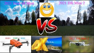 2021 Fimi x8 Mini vs 2021 DJi Mini 2 Ultra HD 4k Video Camera Review Comparison (side by side)