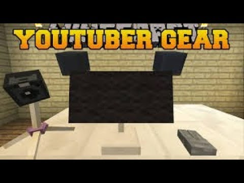 Minecraft - Youtuber Gear Com Apenas Um Bloco De Comando | Computadores, Câmeras E Muito Mais!