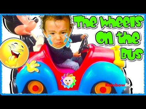 Thumbnail: The Wheels on the BUS New Kids SONG 🚌 REAL BABY Crying 🚍 Simple SONGS For Babies & Nursery Rhymes