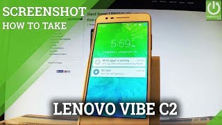 Screenshot in LENOVO Vibe C2 - Capture Screen / Take Screenshot