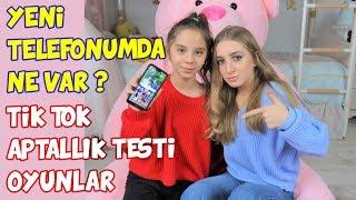 YENİ TELEFONUMDA NE VAR   Tik Tok   APTALLIK TESTİ SONUCU NEDEN BÖYLE - Eğlenceli Çocuk Videosu