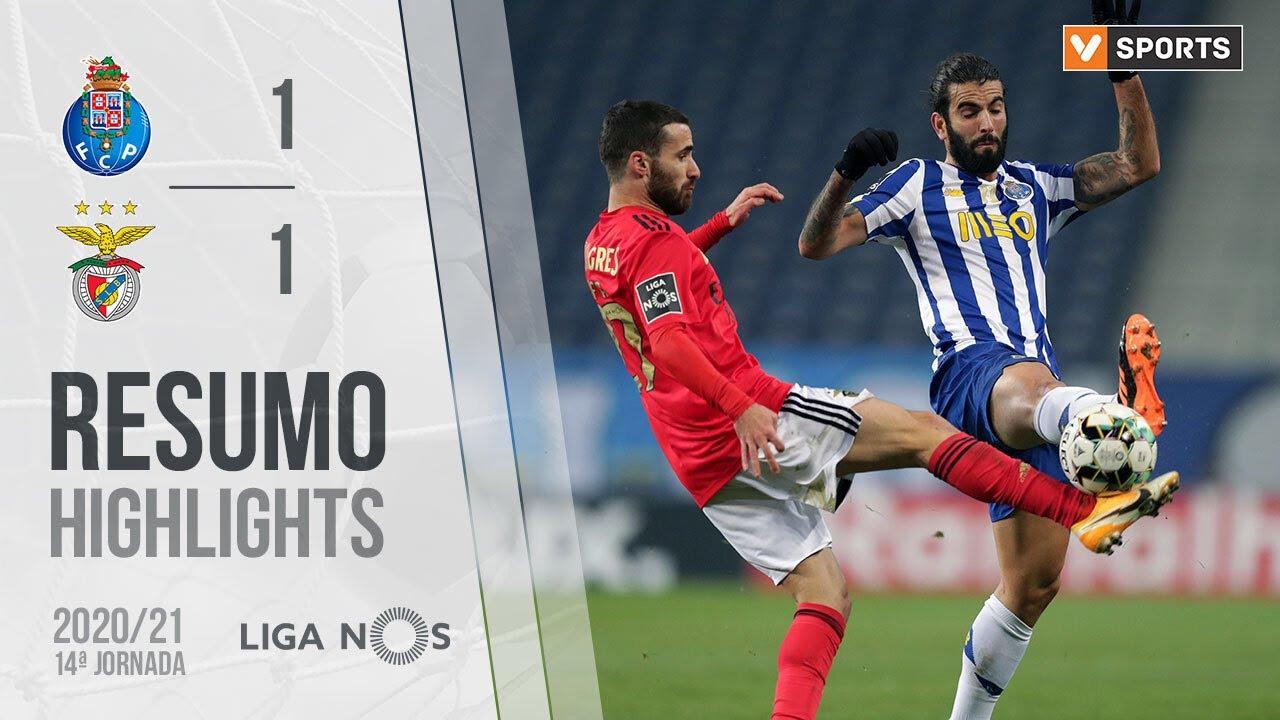 Highlights Resumo Fc Porto 1 1 Benfica Liga 20 21 14 Youtube