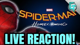 Spider-Man Homecoming Trailer LIVE REACTION!