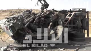 مجزرة مروعة في ولاية الأغواط .. 33 قتيلا في حادث مرور