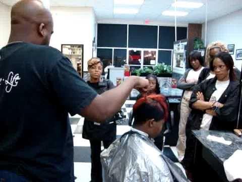 How To Cut A Mohawk Haircut On Black Hair Youtube