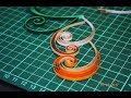Поделки - Квиллинг мастер класс как сделать красивый завиток. How to make a beautiful swirls.