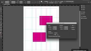 ٨- الدرس الثامن - InDesign CC 2015 - إنشاء الخطوط الوهمية Guides & Grids