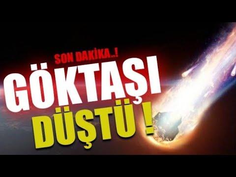 Erzurum'a Göktaşı Düştü Erzurum Meteor Düşme Anı