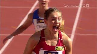 DM Erfurt 2017 - 100m Frauen 2. Vorlauf (Gina Lückenkemper 11.01)