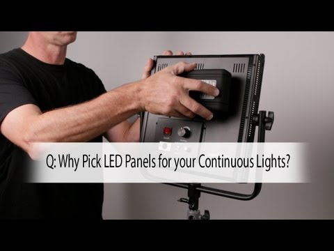 Q: Why Pick LED Panels for Your Continuous Lights?