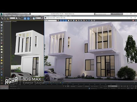 3DS Max Modern Exterior Design Vray Modeling Light + Photoshop / Dış Modelleme