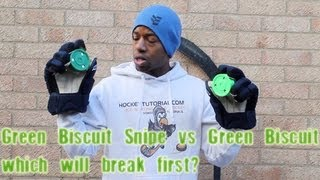 Green Biscuit Snipe Shooting Puck vs Green Biscuit Off Ice Stickhandling Review - How Strong Is It ?