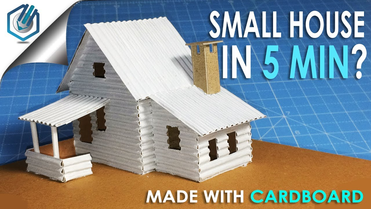 A small cardboard house with dimensions how to make for How to make a house step by step