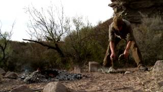 Steven Rinella Boils Javelina Meat in its Own Stomach on MeatEater