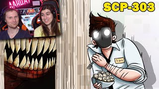 SCP-303 Человек за дверью Анимация SCP Реакция на Детектива Войда
