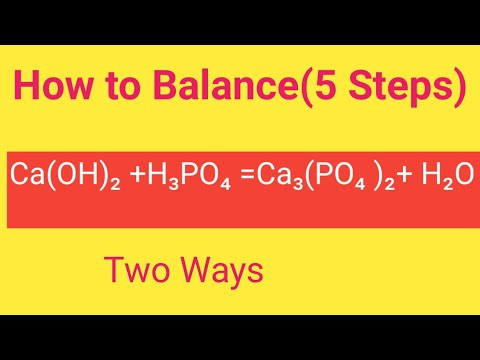 Ca(OH)2 +H3PO4 =Ca3(PO4)2+ H2O Balanced Equation|Cacium Hydroxide +Phosphoric Acid Balanced Equation