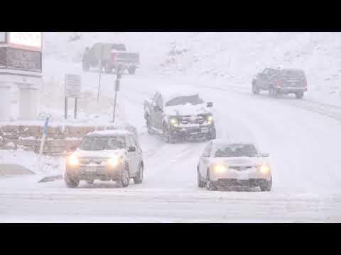 10/28/2019 Colorado Springs, Colorado Cars Sliding Out Of Control/Winter Storm/Crashes