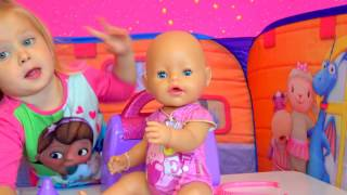 Беби Бон Кукла простудила ухо У Кати беби бон болит ухо Игры в доктора  Видео для девочек