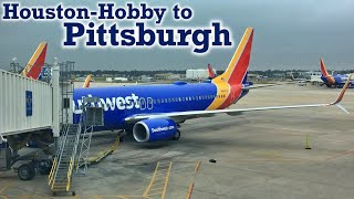Full Flight: Southwest Airlines B737-800 Houston-Hobby to Pittsburgh (HOU-PIT)