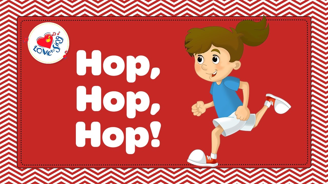 hop hop hop | kids fitness and exercise song with lyrics | children